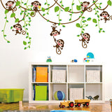 Monkeys Vinyl Tree Wall Stickers