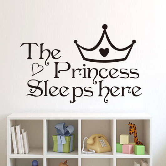 The Princess Sleep Here Wall Stickers