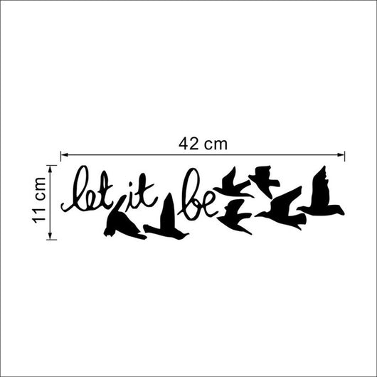 Black Flying Birds Wall Sticker