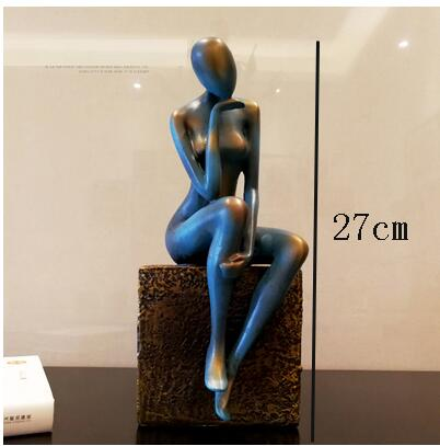 Nordic modern beauty resin sculpture angel figure statue