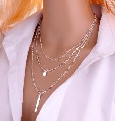 Hollow Out Long Pendant Necklace
