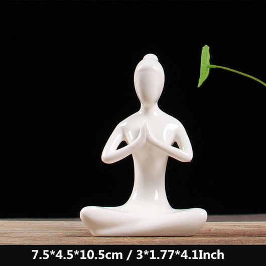 White Ceramic Figurines
