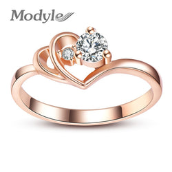 2018  Rose Gold Color Austrian Crystal Rings
