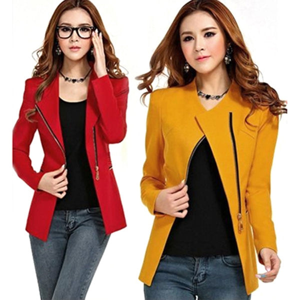 2018 Hot Sale Women Long Sleeve Zipper Casual Jacket