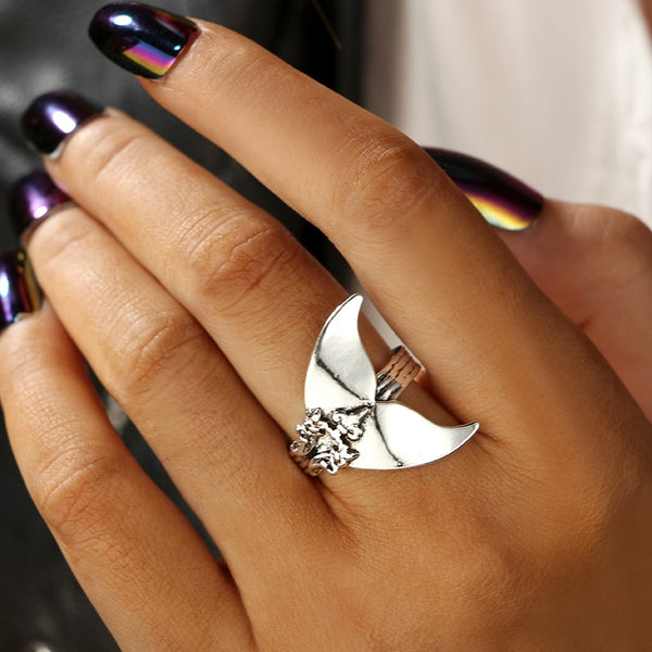Bohemiana Style Mermaid Tail Shape Ring