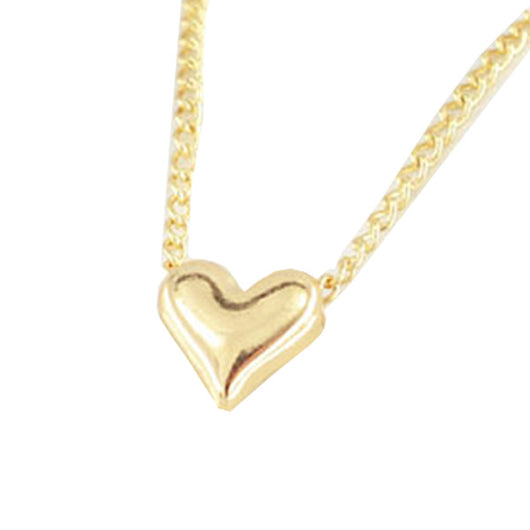 Simple Gold Heart Anklet