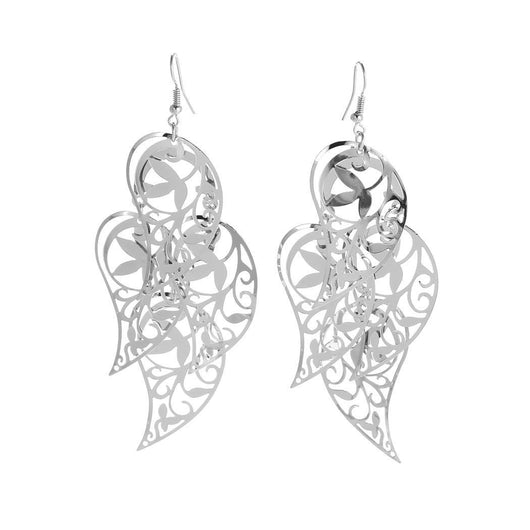 Women's Drop Long Hollow Leaves Earrings
