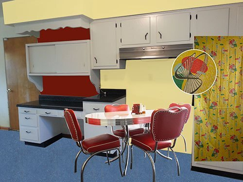 Excellent Red And Yellow Kitchen