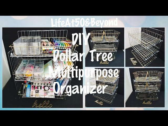 Hi friends! Here's another DIY DOLLAR TREE MULTIPURPOSE ORGANIZER that you can use for any space...big or small