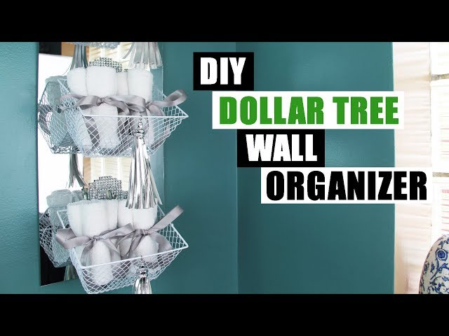 It's another Dollar Tree DIY project! This time I show you how to make a DIY Dollar Tree wall organizer for an easy and cheap DIY home decor project.