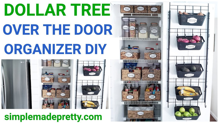 Hey Guys! Today I'm sharing how to make an over the door organizer using Dollar Tree supplies! Use this back of the door organization and over the door ...