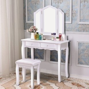 Affordable Corner Makeup Vanity