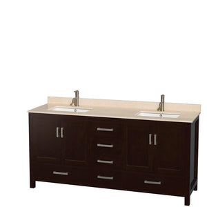Online shopping wyndham collection sheffield 72 inch double bathroom vanity in espresso ivory marble countertop undermount square sinks and 70 inch mirror