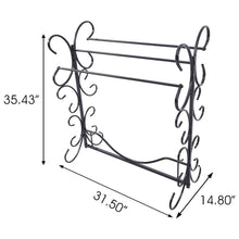 Load image into Gallery viewer, The best homerecommend free standing towel rack 3 bars drying rack metal organizer for bath hand towels outdoor beach towels washcloths laundry rooms balconies bathroom accessories