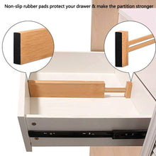 Load image into Gallery viewer, Exclusive unuber bamboo kitchen drawer dividers drawer organizers expandable drawer dividers separators organizers for in kitchen dresser bathroom bedroom desk baby drawer