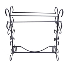 Load image into Gallery viewer, Storage organizer homerecommend free standing towel rack 3 bars drying rack metal organizer for bath hand towels outdoor beach towels washcloths laundry rooms balconies bathroom accessories