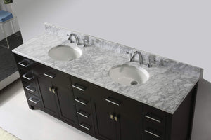 The best virtu usa caroline parkway 78 inch double sink bathroom vanity set in espresso w round undermount sink italian carrara white marble countertop no faucet 1 mirror md 2178 wmro es