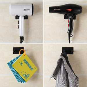 Great hair dryer holder for dyson supersonic hair dryer waterproof bathroom wall mount storage organizer rack hanger holder stainless steel power plug holder with 3m self adhesive hooks