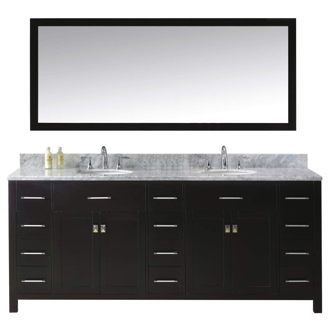 Storage organizer virtu usa caroline parkway 78 inch double sink bathroom vanity set in espresso w round undermount sink italian carrara white marble countertop no faucet 1 mirror md 2178 wmro es