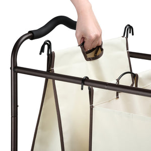 Explore bbshoping organizer laundry hamper cart dirty clothes organibbshoping zer for bathroom bedroom utility room powder coated beige