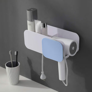 Save on yigii adhesive hair dryer holder no drilling hair dryer rack hair care styling tool organizer holder for bathroom wall mount blow dryer holder storage