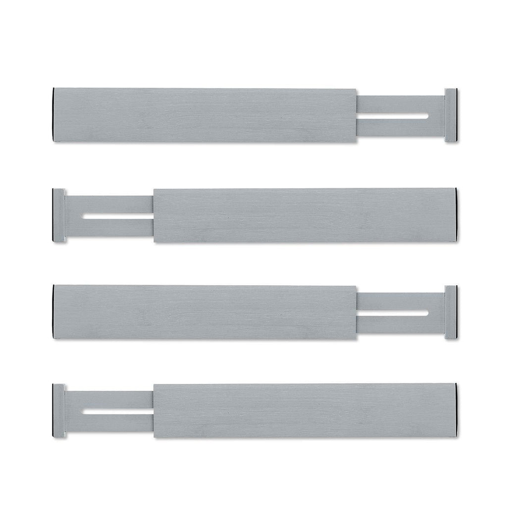 Results utoplike 4 pack bamboo kitchen drawer dividers adjustable drawer organizers spring loaded works in kitchen dresser bathroom bedroom baby drawer desk gray