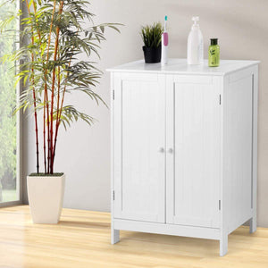 Order now tangkula bathroom floor cabinet wooden floor storage cabinet living room modern home furniture free standing storage cabinet 23 5x14x34 inches