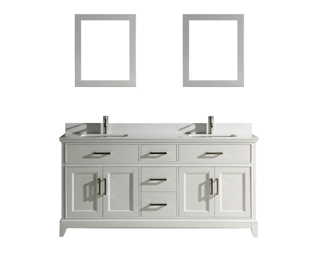Best vanity art 72 inch double sink bathroom vanity set super white phoenix stone soft closing doors undermount rectangle sinks with two free mirror va1072 dw