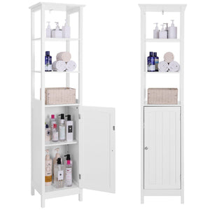 Products vasagle floor cabinet multifunctional bathroom storage cabinet with 3 tier shelf free standing linen tower wooden white ubbc63wt