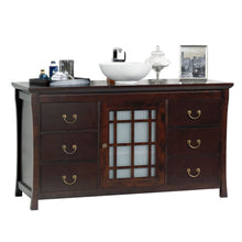 Load image into Gallery viewer, Buy now maykke shoji 64 pacific rim single bathroom vanity set in vintage walnut wood vanity top in vintage walnut ceramic vessel in white lba0460005