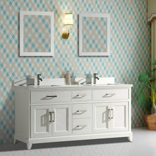 Load image into Gallery viewer, Buy now vanity art 72 inch double sink bathroom vanity set super white phoenix stone soft closing doors undermount rectangle sinks with two free mirror va1072 dw