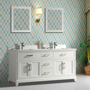 Buy now vanity art 72 inch double sink bathroom vanity set super white phoenix stone soft closing doors undermount rectangle sinks with two free mirror va1072 dw