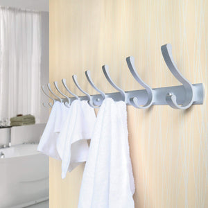 Featured webi 2 set 3 peg sturdy coat hat rack bath kitchen towel hook holder wall mounted closet garment garage organizer bedroom home office storage bathroom fixtures accessories aluminum satin cyuyg32