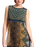 CABI BUCHANEN LEOPARD TUNIC TOP - S
