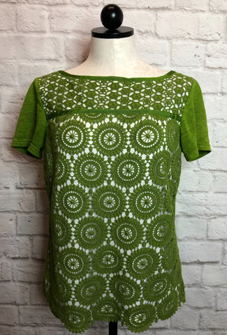TORY BURCH MARGAUX KNITTED TEE - S