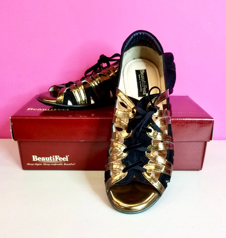 BEAUTIFEEL MELODY LACE UP FLATS - 41/10-10.5