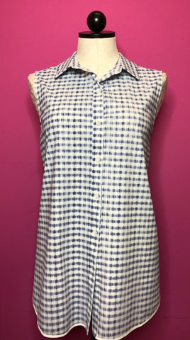 LYSSE BLURRED GINGHAM TOP- M