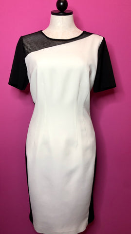 TAHARI NWT COLOR BLOCK DRESS - 10