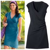 ATHLETA NECTAR FAUX WRAP DRESS - S