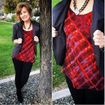 CABI RED PLAID CHERISH TOP - S & M