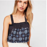 FREE PEOPLE NEW BUBBLE CROP TOP - L