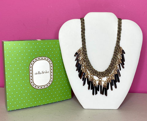 STELLA & DOT NEW BORA FRINGE NECKLACE