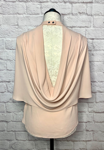 BCBG RUTHIE DRAPE BACK TOP - XS