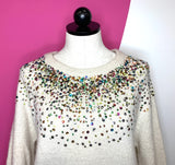 DREAMERS CONFETTI SPARKLE SWEATER -  S/M