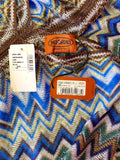 MISSONI ITALY NEW ZIG ZAG PONCHO - ONE SIZE