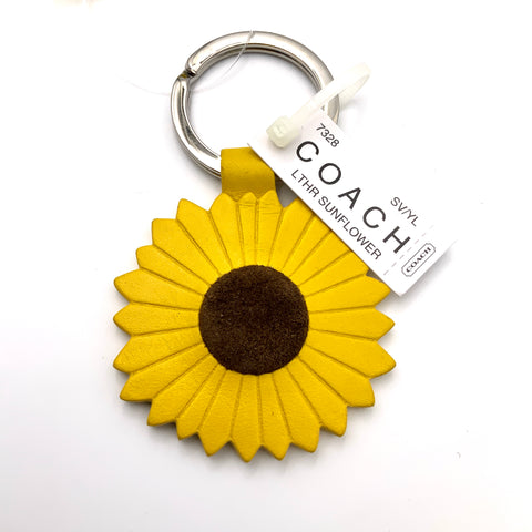 COACH RARE SUNFLOWER KEYCHAIN
