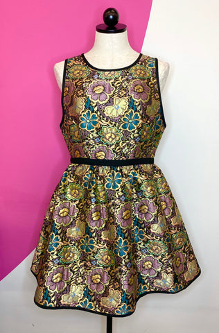 ANTHROPOLOGIE LADAKH BROCADE DRESS - 6