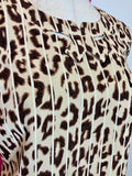 CABI PURR-FECT GINGER CHEETAH BOW TOP - S & M