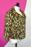MOSCHINO LEOPARD BIG COLLAR JACKET - 6
