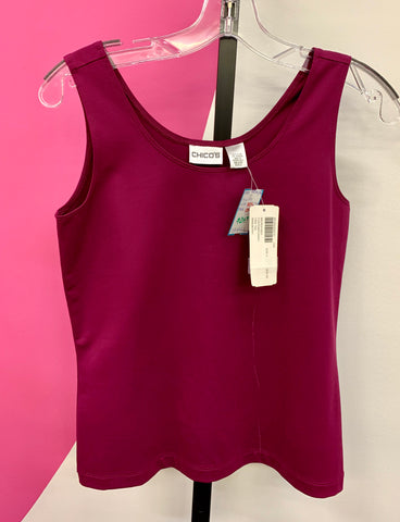 CHICO'S NEW WINEBERRY TANK - XS/S